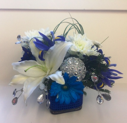 Blue and Silver Flowers