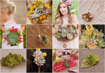 Succulent Wedding Flower Ideas