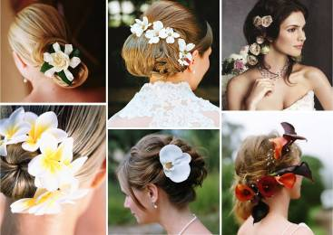 Wedding Hairstyles Using Flowers