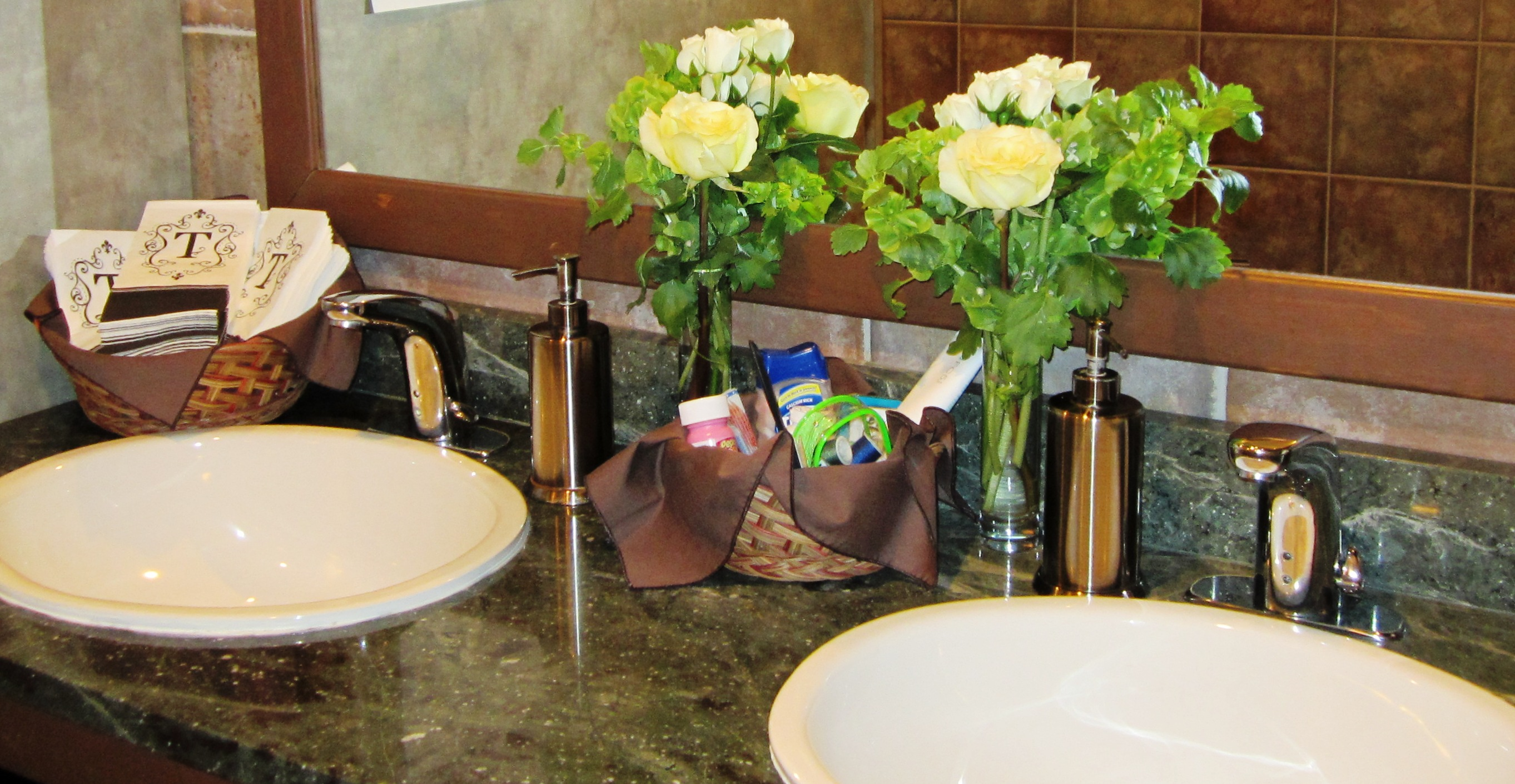 Wedding Flowers Bathroom